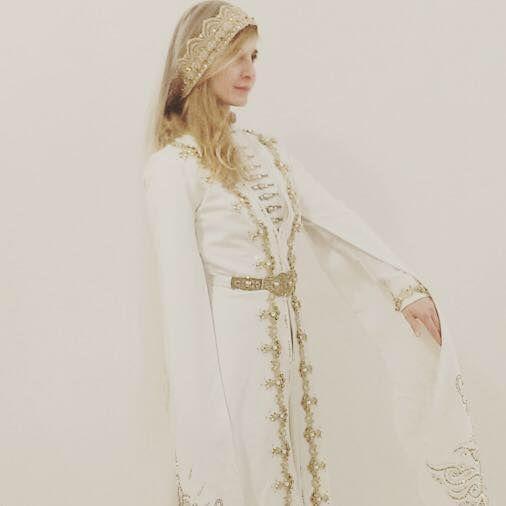 A Circassian bridal costume