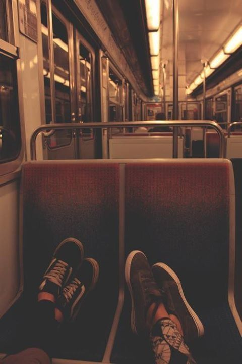 We count our dollars on the train to the party.