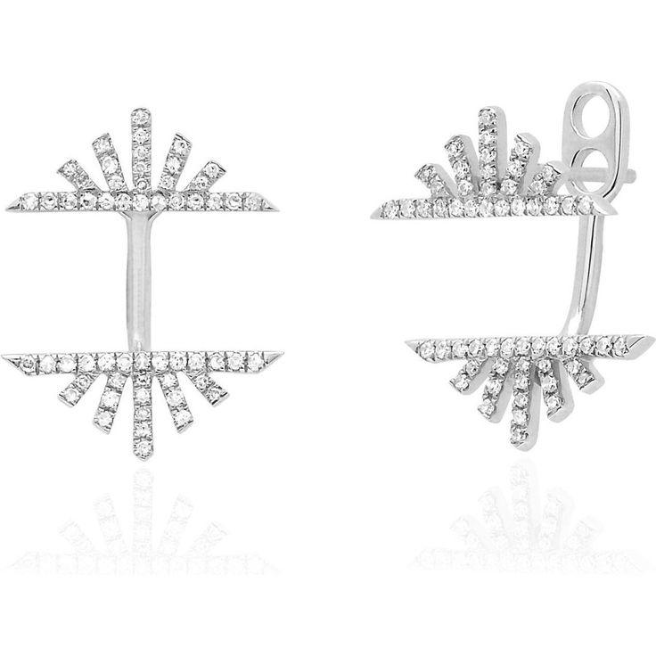 EF Collection Diamond Sunrise Sunset Ear Jackets as seen on Kate Hudson