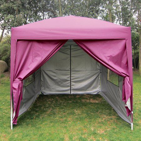 Big Sale!Quictent Privacy 8'x8' EZ Pop Up Party Tent Canopy Gazebo Mesh Curtain 100% Waterproof-7 Colors (Pink)