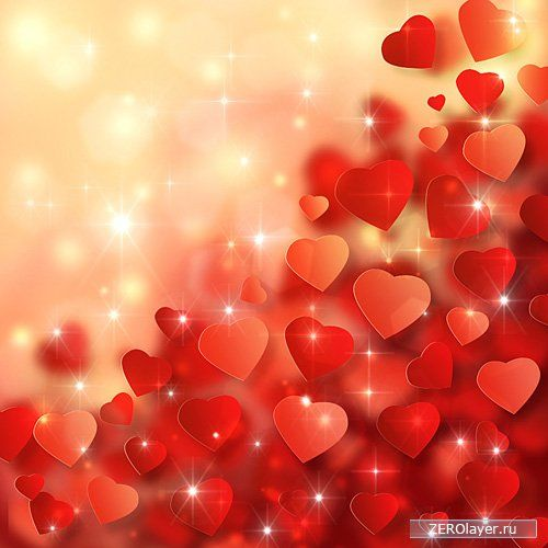 Создание в Adobe Photoshop CS6 красочного фона с абстрактными сердечками на тему Дня святого Валентина