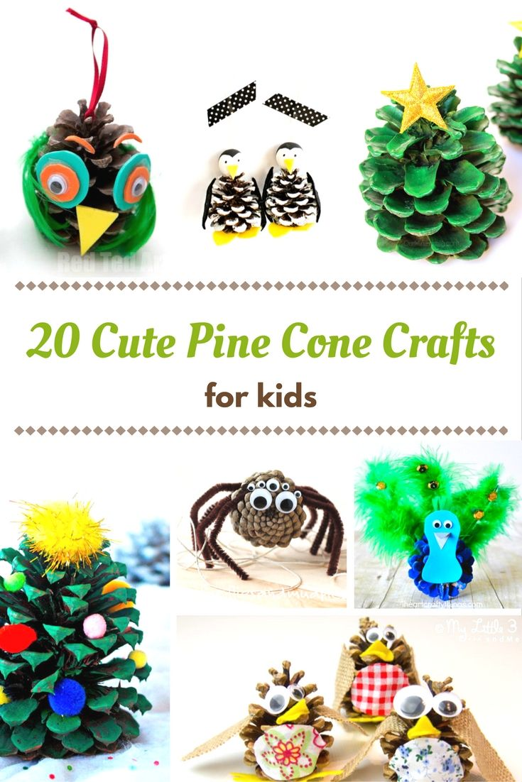 20 of the cutest pine cone crafts for kids crafting for Pine cone crafts for children
