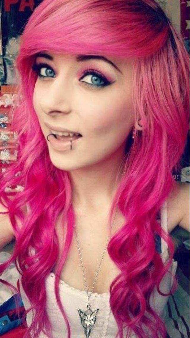 25 Best Scene Pink Hair 3 Images On Pinterest Colourful Hair