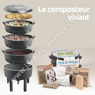 Composteur Vivant - Le lombricomposteur Can-O-Worms                                                                                                                                                                                 Plus