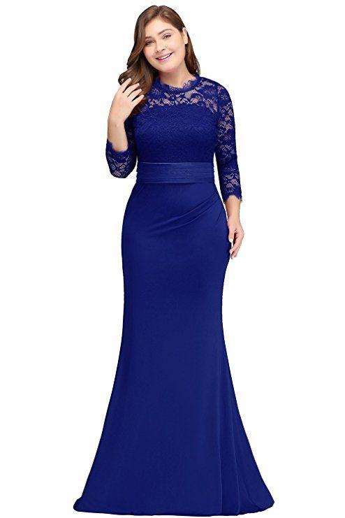 e3e6950b557 Babyonlinedress Women Long Plus Size Mermaid Formal Dress Royal Blue Size  14W