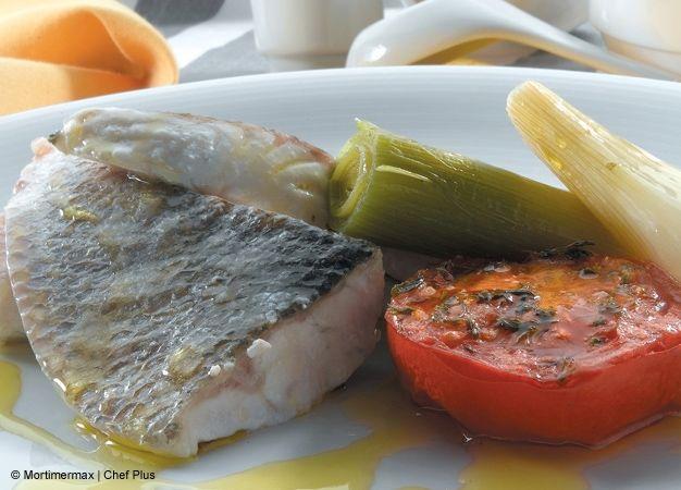 Lubina con verduras asadas | Chef Plus