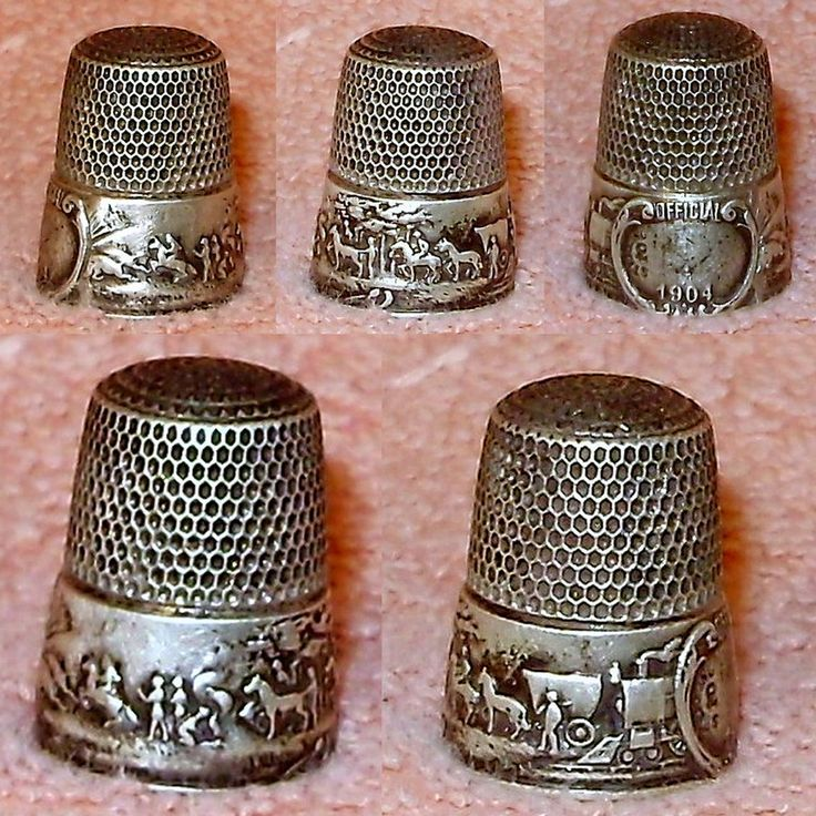 Rare 1904 St. Louis World's Fair sterling silver souvenir thimble that I sold for an estate.