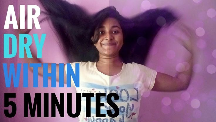 How to AIR DRY - Hair | Within 5 MINUTES
