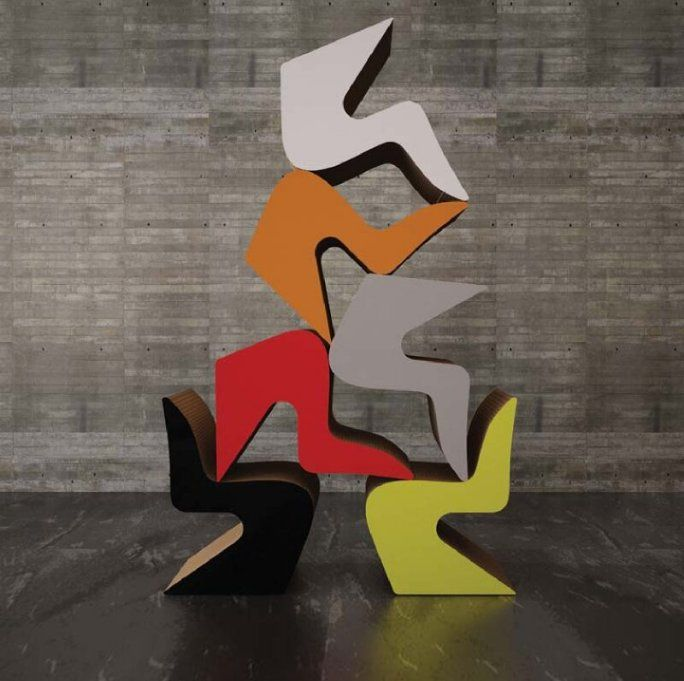 test colorful #cardboard #chairs !!!
