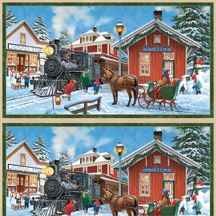 snow day panel by john sloane for wilmington prints. Black Bedroom Furniture Sets. Home Design Ideas