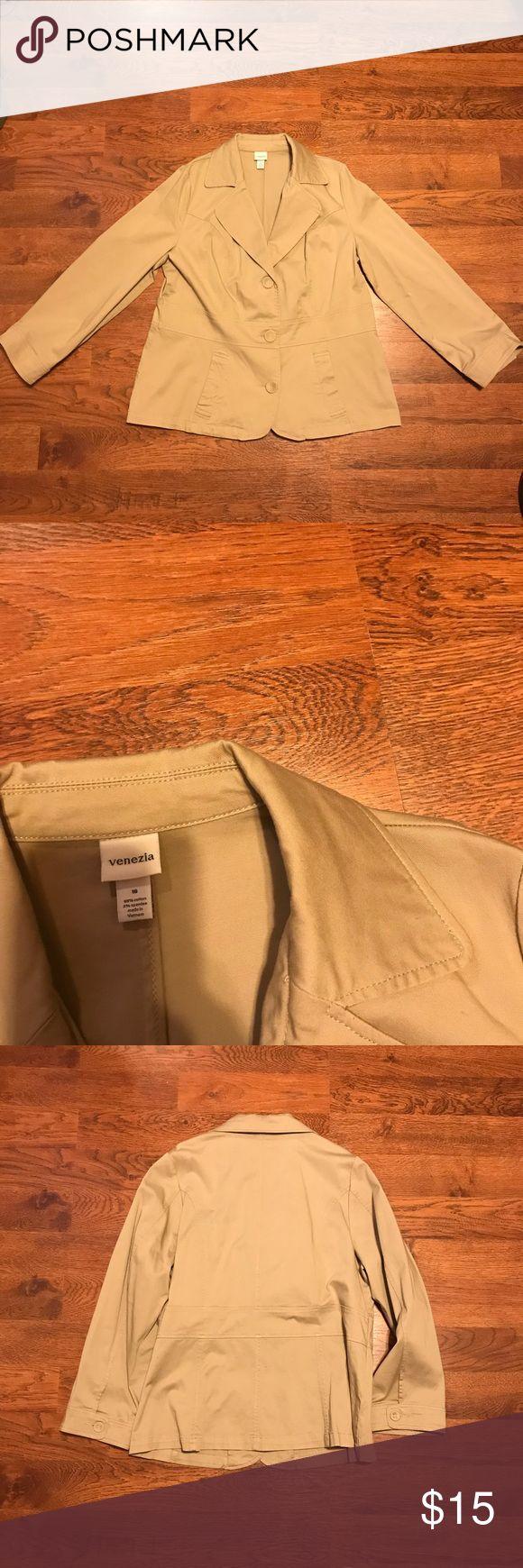 Beige blazer Moving Sale! Everything must go!   Nice beige blazer size 16, in perfect condition. Jackets & Coats Blazers