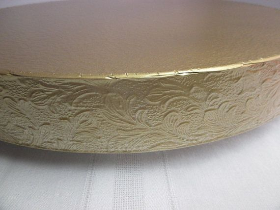 Cake Stand 14 inch Gold Floral Leaf by BezInnovations on Etsy
