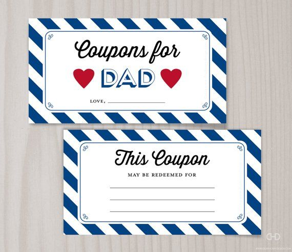 father u0026 39 s day coupons for dad blank printable coupons