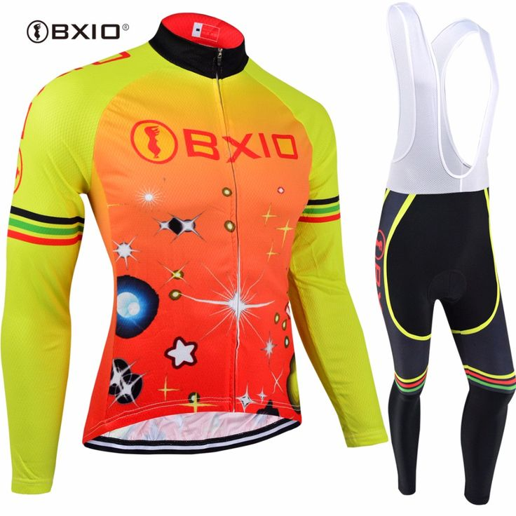 Hot Selling Bxio Brand Orange Cycling Sets Winter Thermal Fleece Bike Clothes Pro Teams Equipo De Ciclismo BX-0109O105 #Affiliate