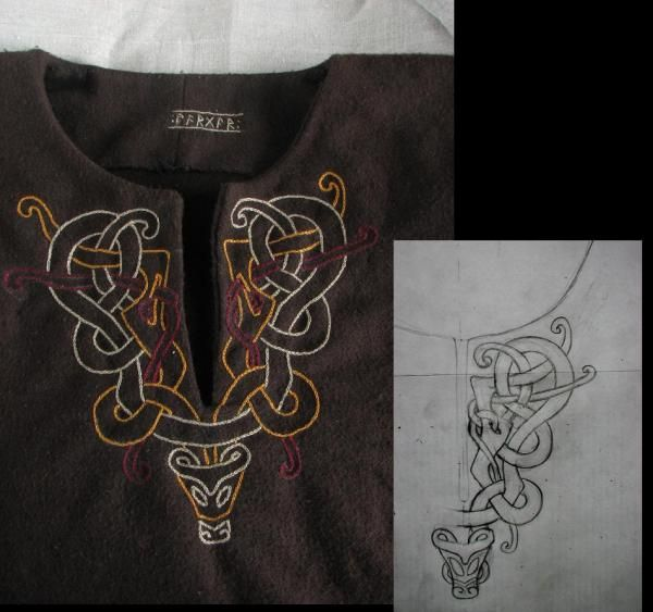 VALGRED - Embroidered pattern for garb.