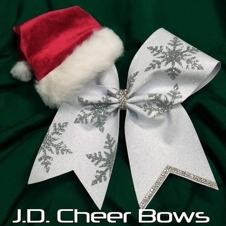 Holiday Santa Hat Christmas Cheer Bow
