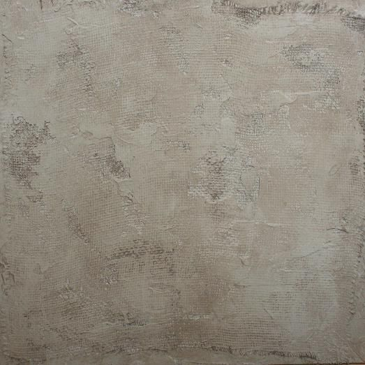 Faux Painting idea- aged and degraded plaster over burlap
