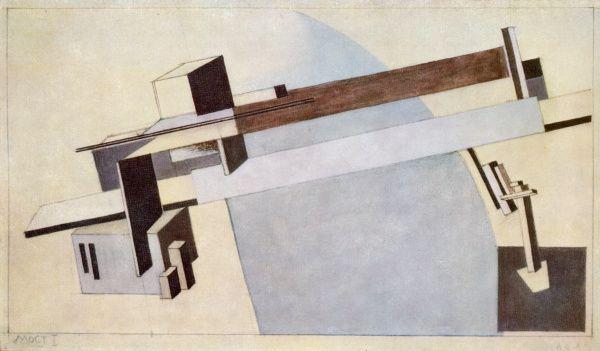 Proun 1 A, Bridge I, 1919 El Lissitzky