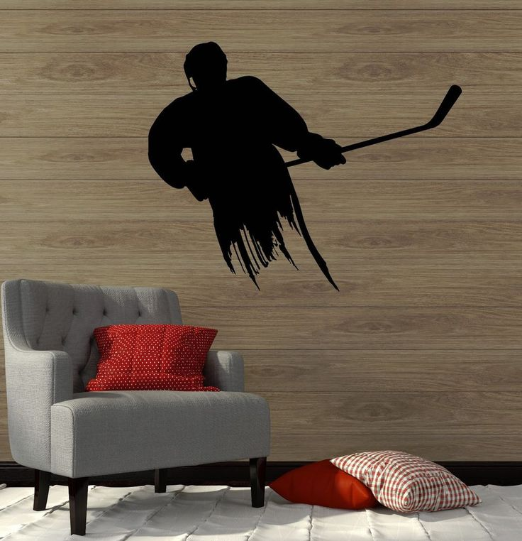 Wall Decal Ice Hockey Player Sports Fan Boys Room Vinyl Stickers (ig3010) #Wallstickers4you