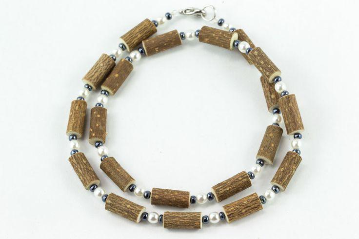 Women Hazel Necklace - pearl/hematite - Healing Hazel
