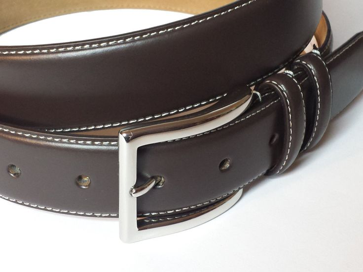Cole Haan Men's #belt Size 42 Brown leather Contrast Stitch 32 mm wide ( India ) ColeHaan visit our ebay store at  http://stores.ebay.com/esquirestore