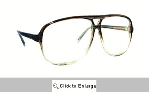 Cambridge Clear Lens Aviators Glasses - 278A Brown