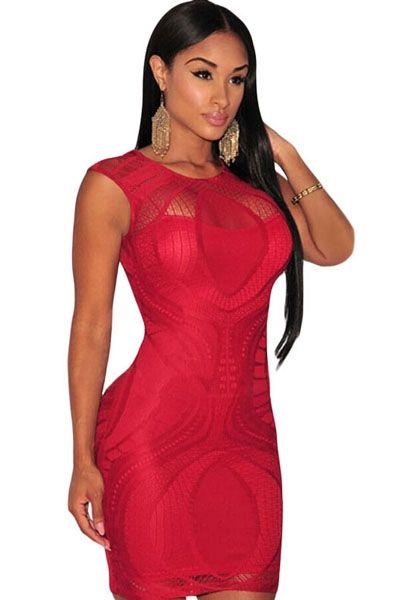 Sukienka czerwona  elegancka  siateczka
