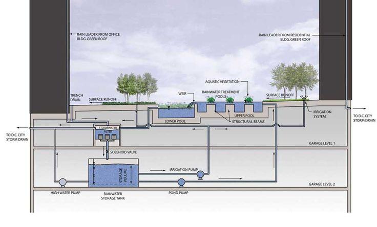 Innovative storm water strategy.   The Avenue – Sasaki Associates, Inc