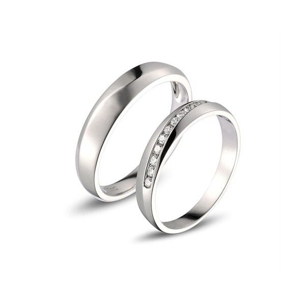 Affordable Diamond Couple Wedding Bands for Him and Her Couple Rings