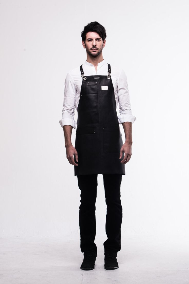 White apron cafe - Real Cowhide Apron Black By Arc1_ Leather Apron For Barista Chef Cafe Restaurant