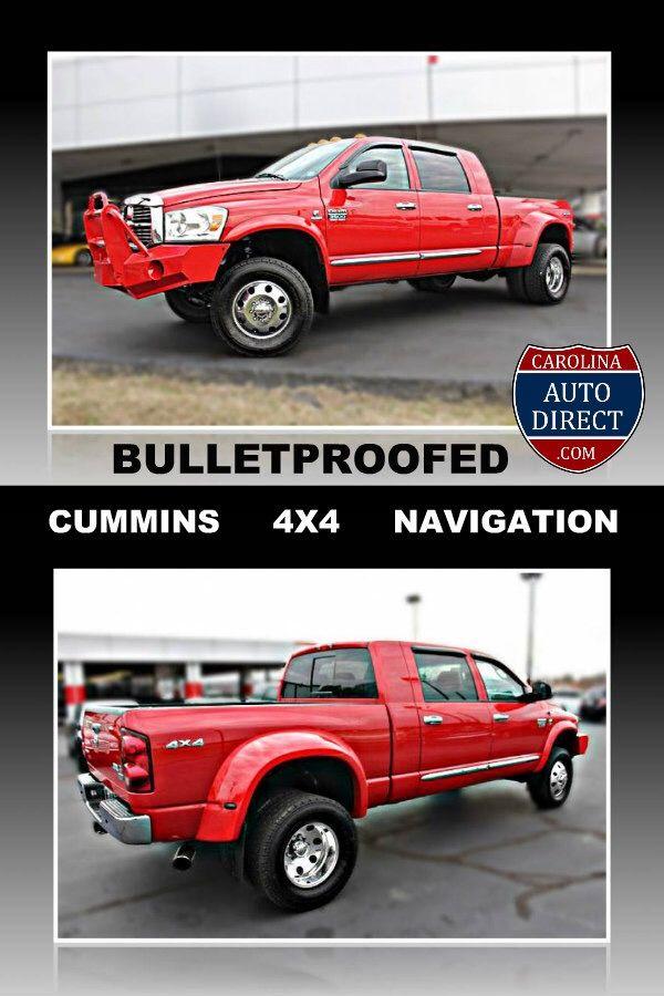 2007 Dodge Ram 3500 Mega Cab Bullet Proofed Diesel 4x4 Navigation