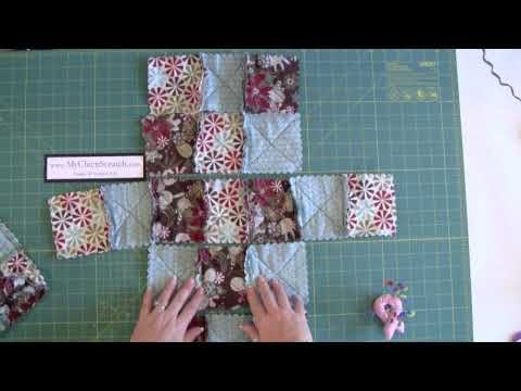 a youtube video showing how to make a cute bag from squares of fabric......love it!