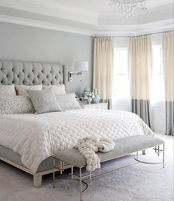 Off White And Gray Linen Color Block Drapery Panels Grey And Off White Modern Farmhouse Curtains Home Decor Bedroom Master Bedroom Interior Woman Bedroom
