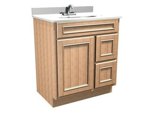 Briarwood Woodland Vanity Sink, 30w X 18d X 31h, Drawers Right At Menards  Actual