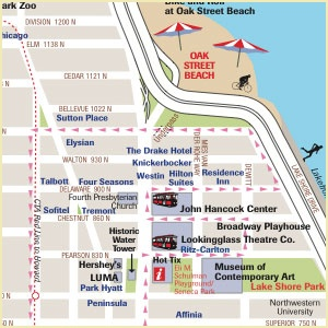 Map Of Chicago Hotels Downtown | 2018 World's Best Hotels Chicago Hotel Map Magnificent Mile on