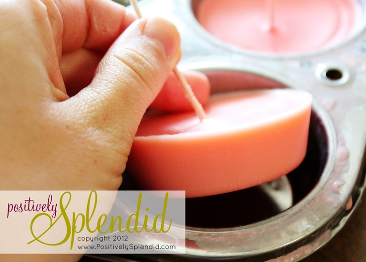 DIY floating citronella candles.  Float in mason jars for a summer fete!