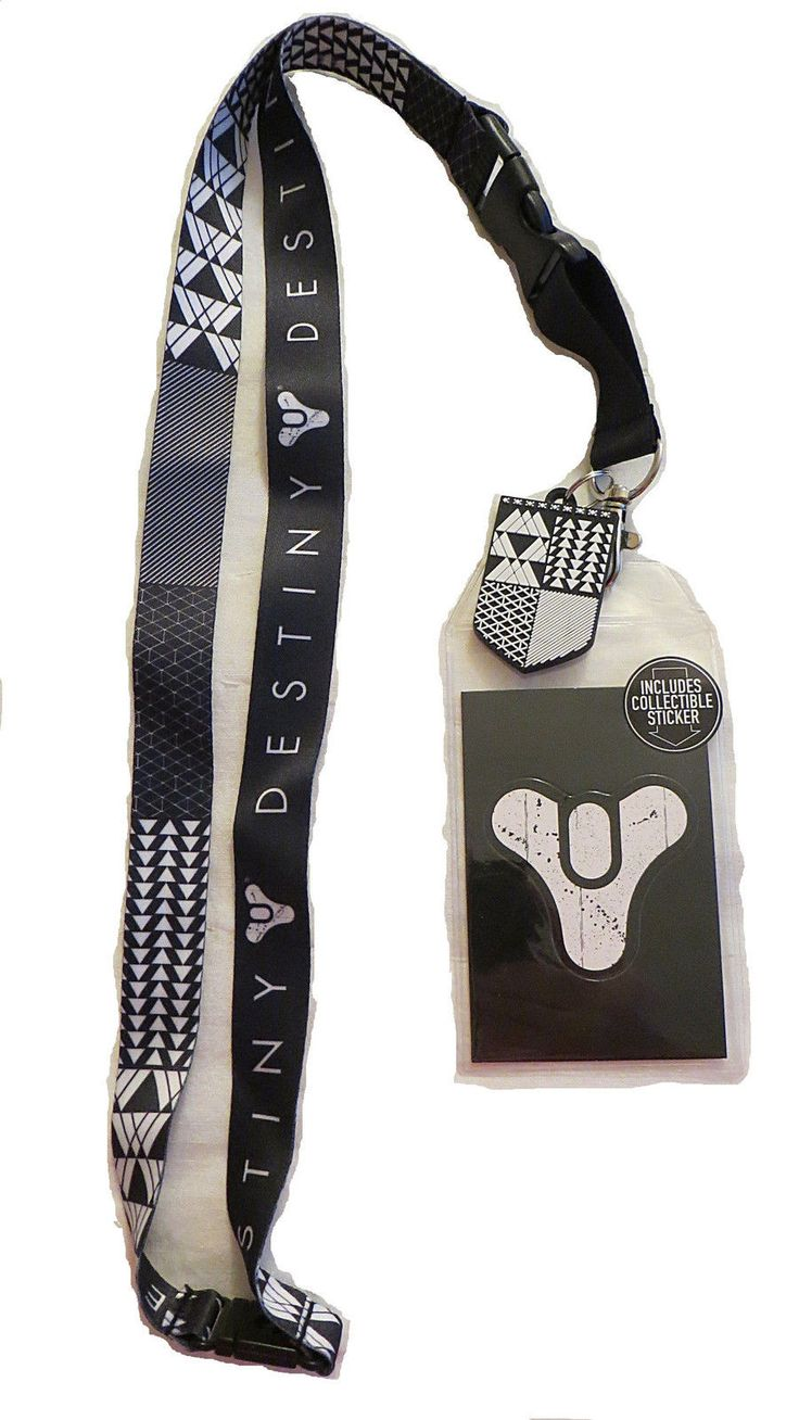 "This lanyard is an officially licensed product featuring different artwork on each side of the fabric. On one side we've got ""Destiny"" and the game's logo. The other side features the symbols of the W"