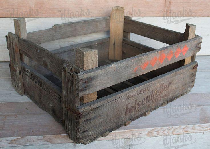 Vintage houten bierkrat Felsenkeller - nodjooks