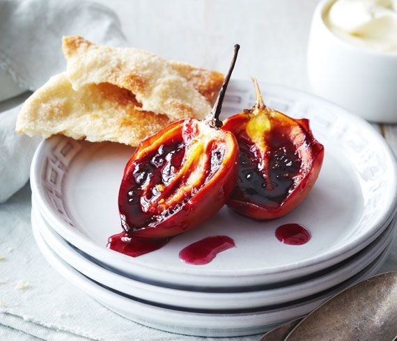 Baked Tamarillos with Cinnamon Honey Yoghurt