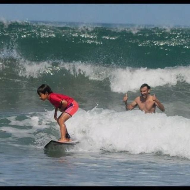 Bali island is great place to learn to surf, it is has many Beaches and type of waves. http://www.balisurfwaves.com/