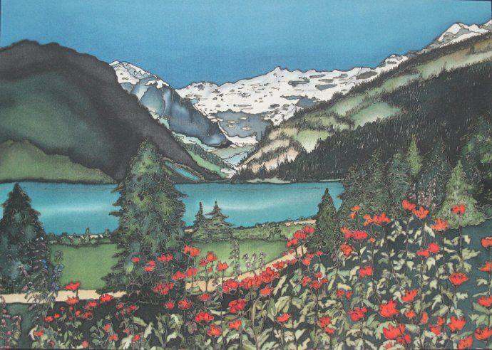 Lake Louise print by Rennee Bovet