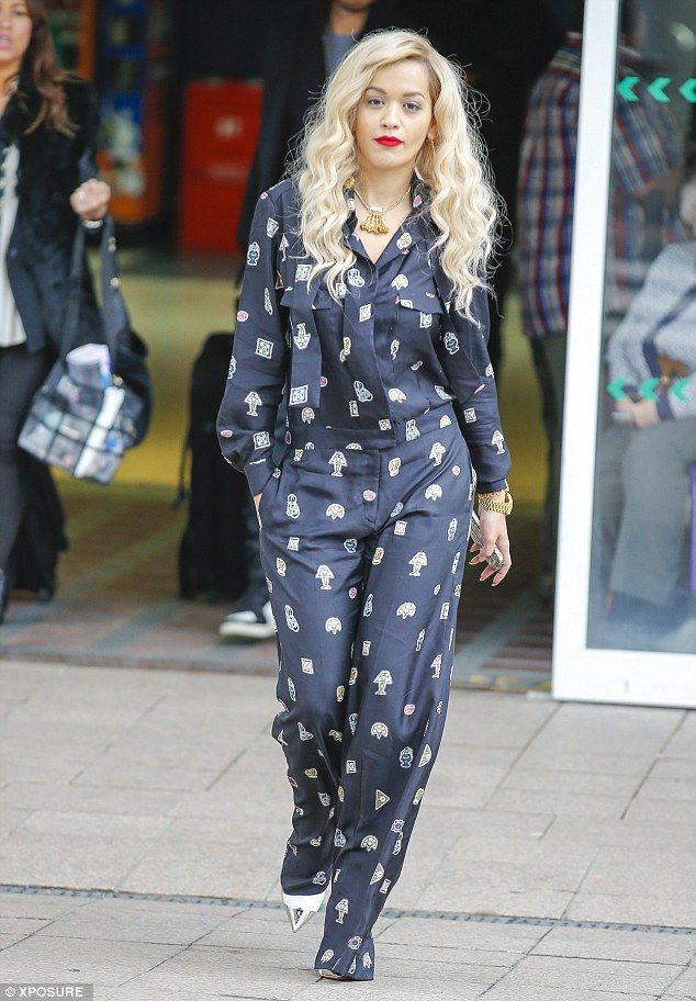 Rita Ora wearing Christian Louboutin Calamijane Booty 120mm