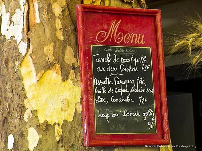 French Cafe Menu - JPG Photos