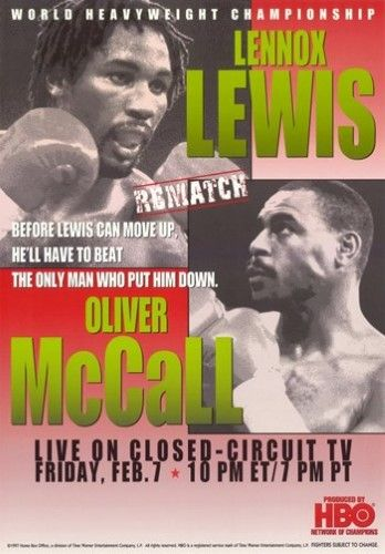 Lennox Lewis vs Oliver McCall Movie Poster (11 x 17)