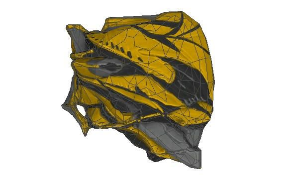 Warframe - Life Size Mesa's Helmet Papercraft Free Template Download - http://www.papercraftsquare.com/warframe-life-size-mesas-helmet-papercraft-free-template-download.html#Helmet, #LifeSize, #Mesa, #Warframe