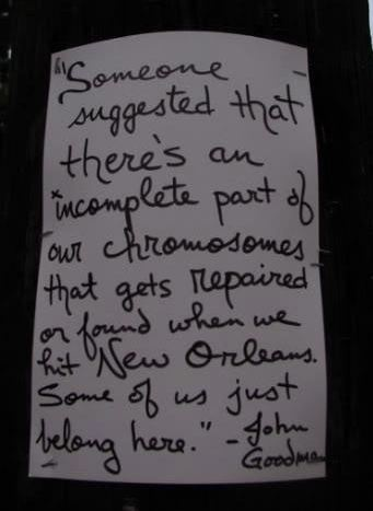 John Goodman's letter to New Orleans- I definitely belong here in the Big Easy ;)