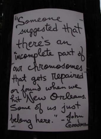 John Goodman's letter to New Orleans- I definitely belong here in the Big Easy ;)