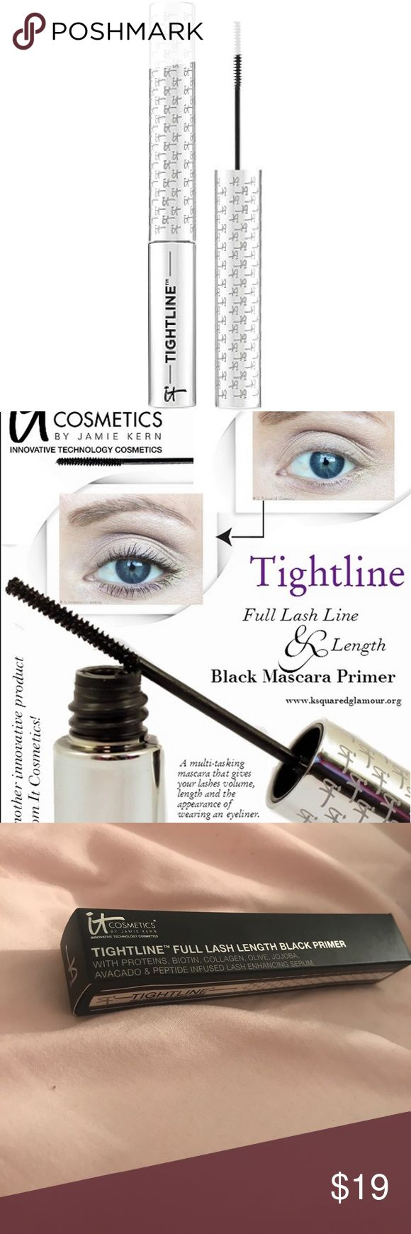 NWT It Cosmetics Tightline Mascara Primer NWT, never used black mascara primer. This helps elongate your lashes and give them volume. It Cosmetics Makeup Mascara