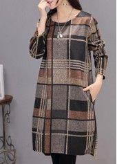 Black Round Neck Long Sleeve Dress on sale only US$24.95 now, buy cheap Black Round Neck Long Sleeve Dress at lulugal.com