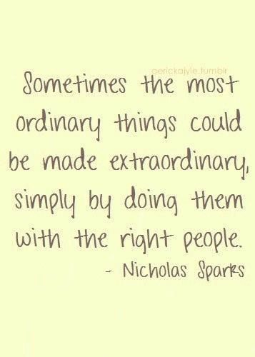 nicholas sparks, quotes, sayings, teamwork, together, people